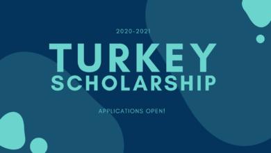 Turkey Scholarship 2020-2021 Open