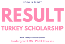 Turkey Scholarship Result Announcement - internview result annouced for Turkey Government Scholarship