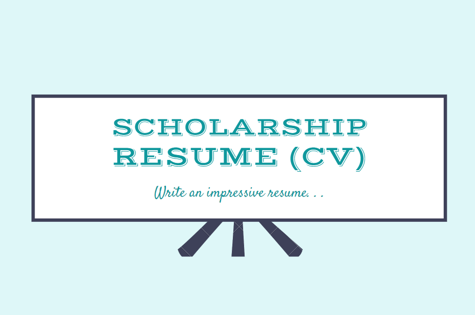CV for Scholarship - Scholarship Resume