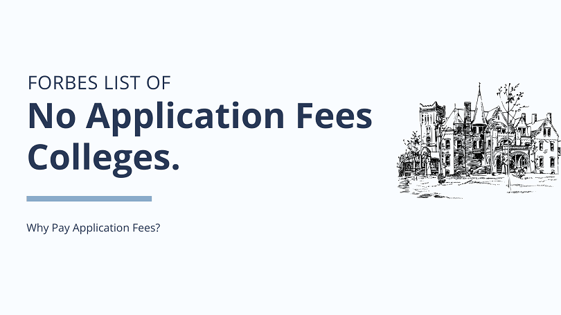Forbes List of No Application Fees Colleges