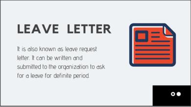 Formal Leave Letter Template