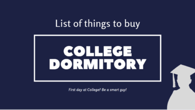 List of things to buy for college and dormitory