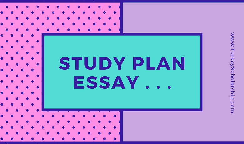 Study plan essay for scholarship application for undergraduate and postgraduate