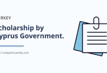 Turkey Scholarship by Cyprus Government 2020