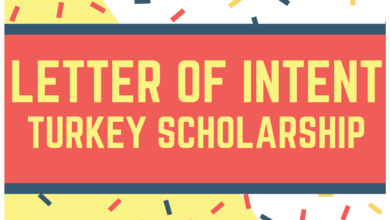 Letter of intent (LOI) for Turkey Scholarship