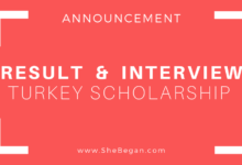 Result Announcement+interview Call letter Turkiye Burslari Scholarship - Turkey Government Scholarship