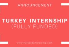 Turkey Summer Internship 2020 (Fully Funded)